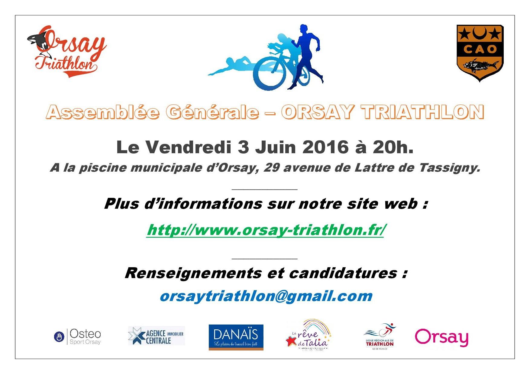 Assemblée Générale CAO Triathlon